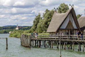 Häuser der Pfahlbauer